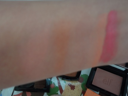 color swatches of blushes