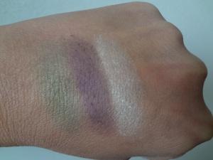 nyc trio eyeshadow color swatch