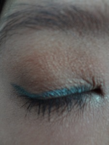 Pixi eye makeup look closed up