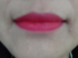 Moisture Renew lipstick on lips