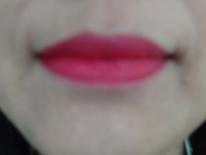 Moisture Renew lipstick on lips