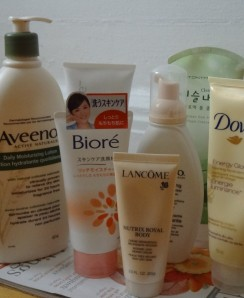 body wash and skincare