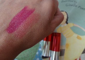 color swatch of lippies