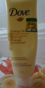 dove energy glow facial cleanser