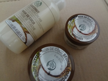 coconut body wash set