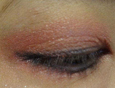 red eyeshadow look
