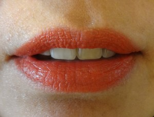 lady danger coral red lipstick