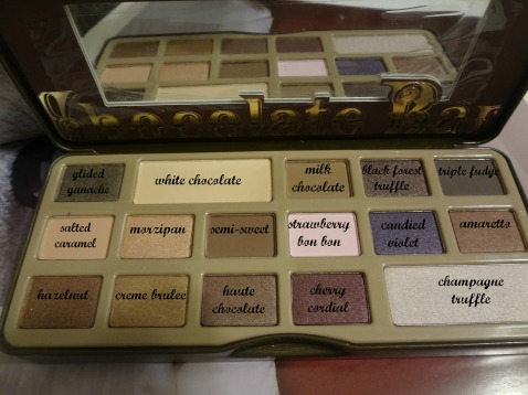 too faced palette chocolate bar