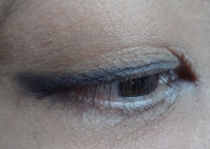 blue black eye liner