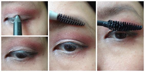 mascara, eyeliner