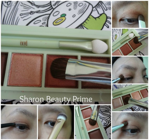 bronze eyeshadow look 1