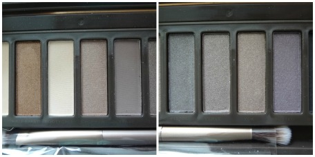 naked 2 palette shadows