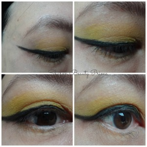 winged eyeshadow look