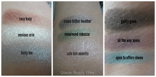 color swatches the balm