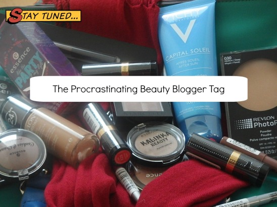 the procrastination beauty blogger tag