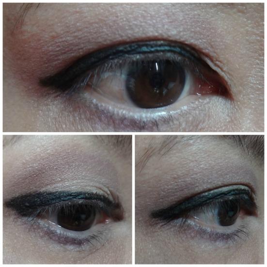 Winged eyes makeup look