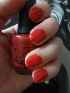 opi red lacquer