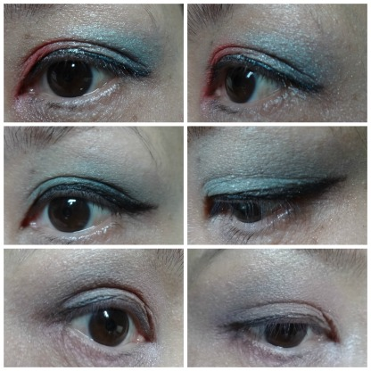 blue eye makeup look
