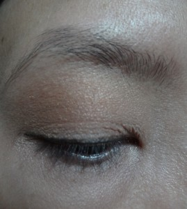 Neutral nude eye makeup