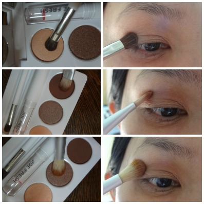 eye maeup look joe fresh neutral
