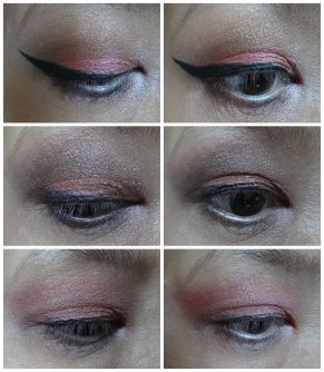 red eye makeup primary color