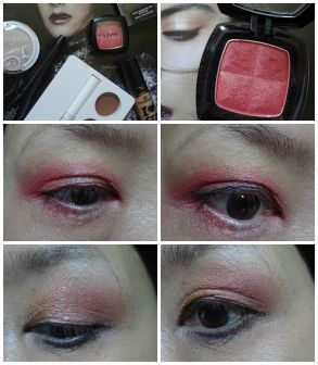 red shadow eye makeup