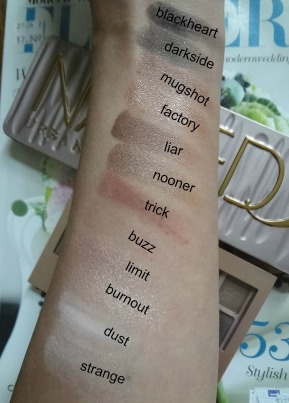 UD Naked 3 color swatches