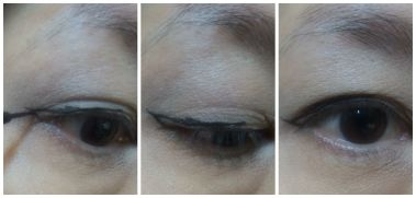 cat eye liner step 1