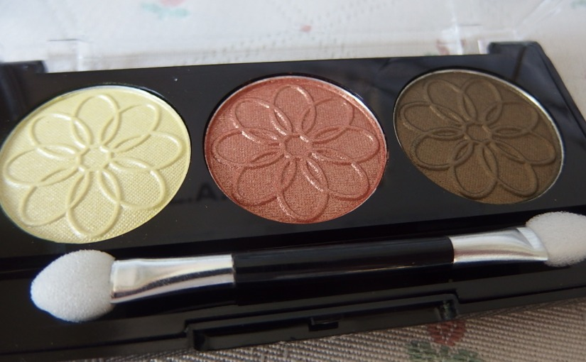 3 Colors Eyeshadow by LA Colors|Review & EOTD