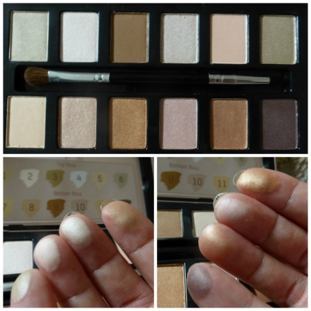 color swatches nude rose palette