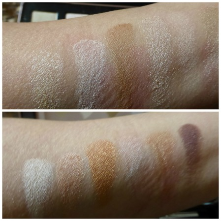 color swatches on point nude rose palette
