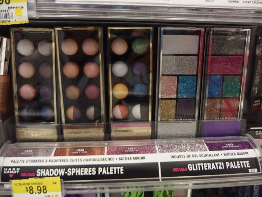 new hard candy glitter eyeshadow palettes