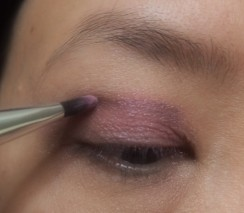 Use purple shadow on top of the pink shadow to create depth