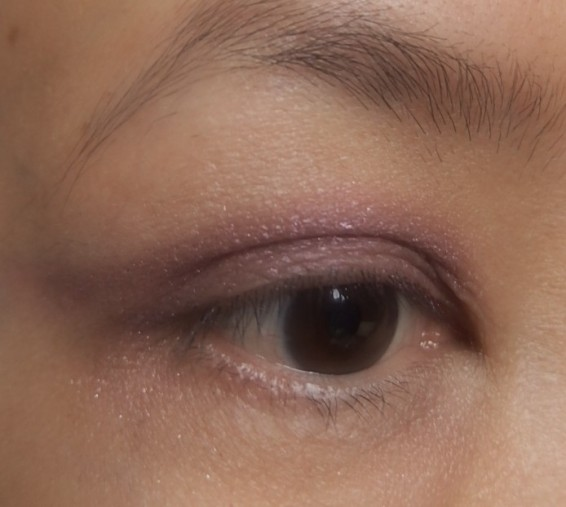 Using the same shade I did a winged liner on the lash line.