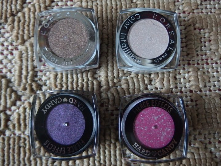 L'Oreal Infallible & Hard Candy Eyeshadows