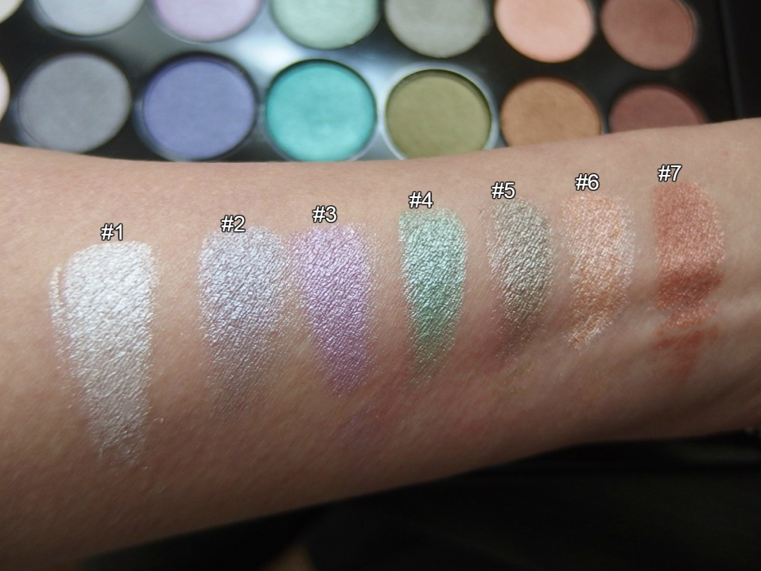 color swatches 1 row