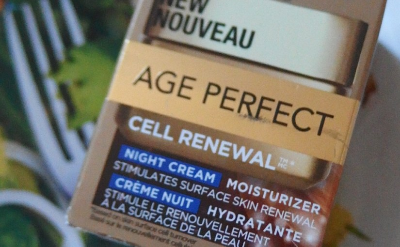 Best Of L'Oreal New Age Perfect Drugstore -Night Cream