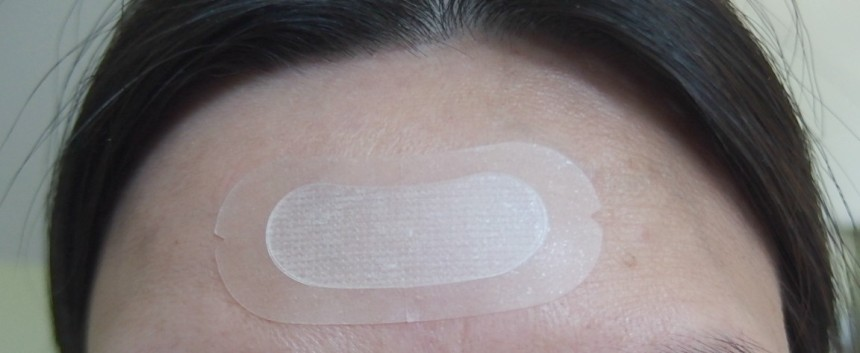 forehead with patch