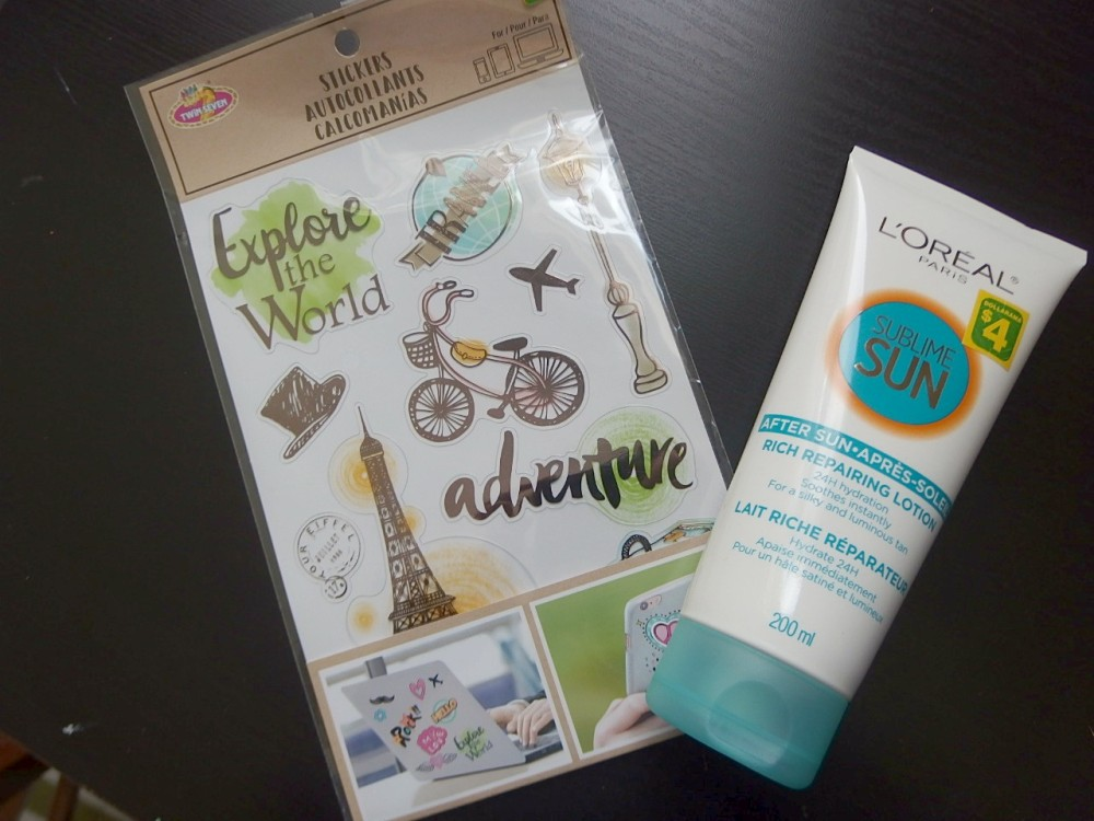 Sticker and after sunscreen