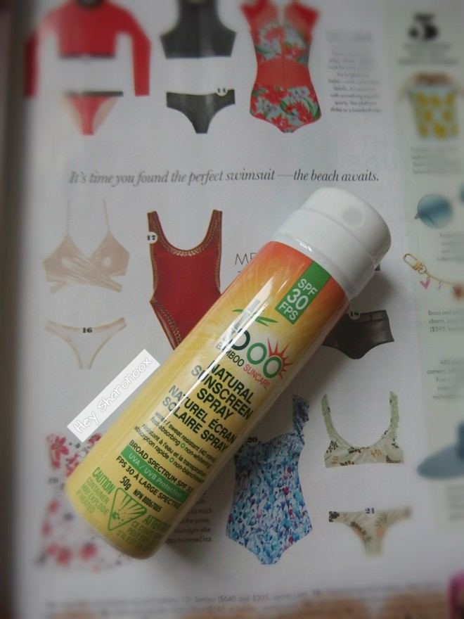 natural sunscreen spray