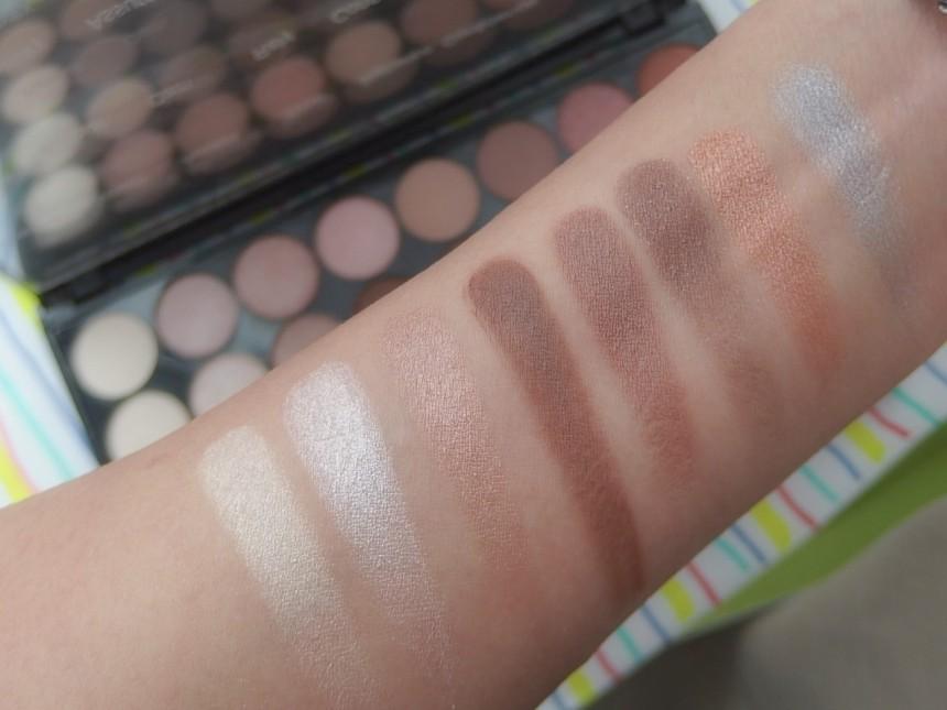 Makeup Revolution Eyeshadow Color Swatch Row 2