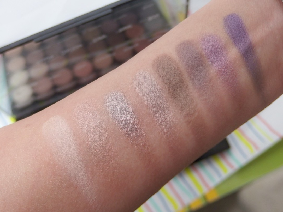 Makeup Revolution Eyeshadow Color Swatch Row 3