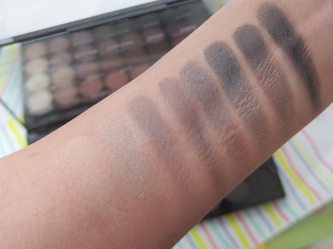 Makeup Revolution Eyeshadow Color Swatch Row 4
