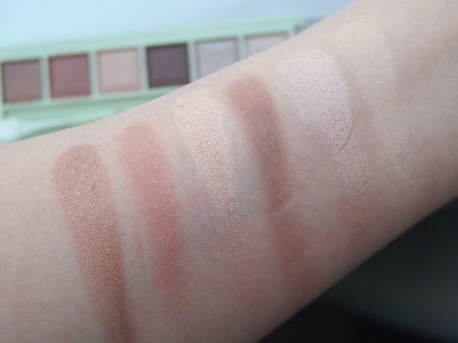 Copper Peach swatches
