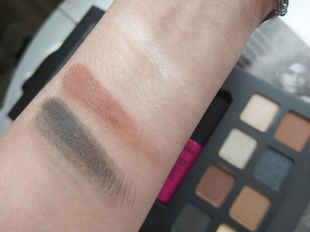NYX eyeshadow swatches
